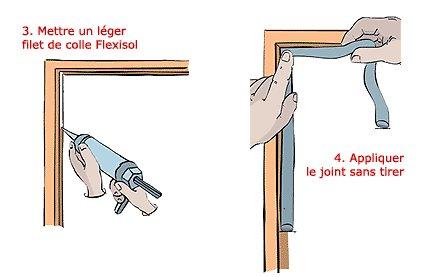 Joint de calfeutrement pour portes et fen tres for Joint pour fenetre